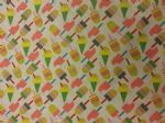 ICE CREAM DREAMS - ICE LOLLY - Fabric 100% Cotton - Price Per Metre
